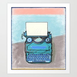 Writer's Muse -Typewriter Art Print