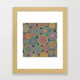 Boho Patchwork-Eden colors Framed Art Print