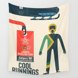 Cool runnings, Jamaica bobsled team movie, olympic games poster, Calgary 1988, Winter Olympics, John Candy Wall Tapestry