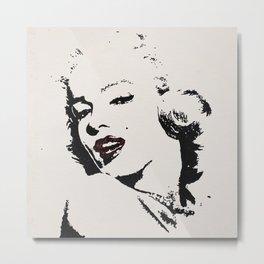 Red lips of Marilyn Metal Print