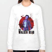 christopher walken Long Sleeve T-shirts featuring The Walken Dead – The Walking Dead Parody – Christopher Walken Zombie by ptelling