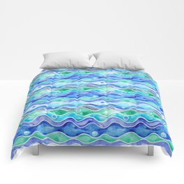 Ocean Pattern - Dolphin Comforters