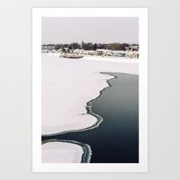 Frozen Ottawa River Art Print