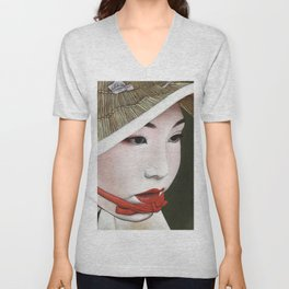 Geisha Unisex V-Neck