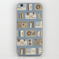 technology iPhone & iPod Skins featuring Obsolete Technology by Daniel long Illustration