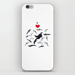 I love dolphins iPhone Skin
