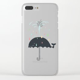 Happy Rainy Day Clear iPhone Case