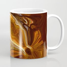 Earth Tones, Digital Fluid Art - Abstract Glowing Light Lines Coffee Mug