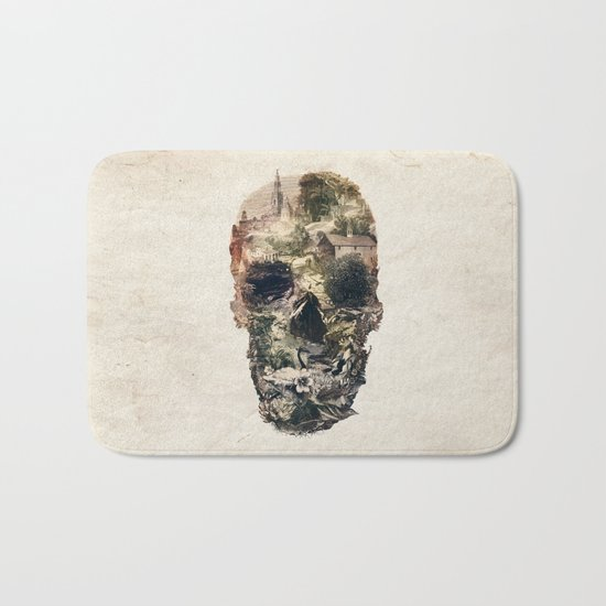 Skull Town Bath Mat
