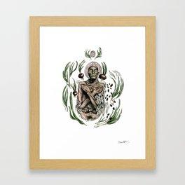 Onion mummy Framed Art Print