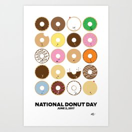 National Donut Day 2017 Art Print