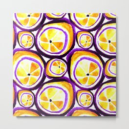 Sweet Plum Lemon Metal Print