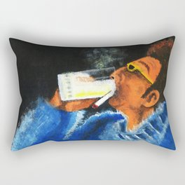 """HERE'S TO FEELIN' GOOD ALL THE TIME"" Rectangular Pillow"
