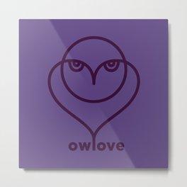 Owl Love / Ow! Love Metal Print