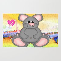 mouse Area & Throw Rugs featuring Mouse by Digital-Art