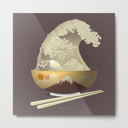 The Great Ramen Wave Metal Print
