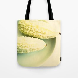 White Melons in plate Tote Bag