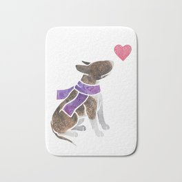 Watercolour Bull Terrier Bath Mat
