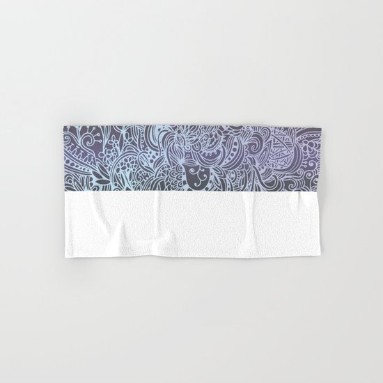 Detailed square, grey'n wedgwood Hand & Bath Towel