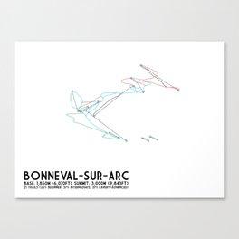 Bonneval Sur Arc, Savoie, FRA - EUR Edition - Minimalist Trail Art Canvas Print