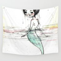 the little mermaid Wall Tapestries featuring Mermaid by solocosmo