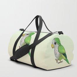 Very cute green parrot Duffle Bag