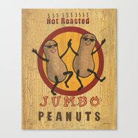 peanuts Canvas Prints featuring Retro peanuts by Weezer