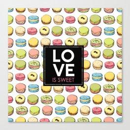 Love is sweet. Canvas Print