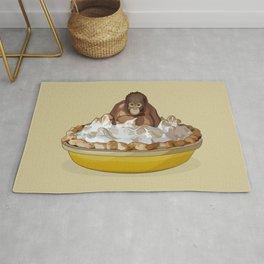 Lemon 'Merangutan' Pie - Orangutan Monkey in Lemon Meringue Pie Rug