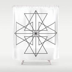 Triangle Love Shower Curtain