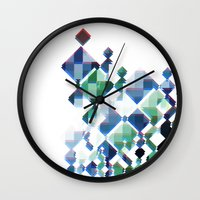 politics Wall Clocks featuring TABLE POLITICS by Vincent Balbastre