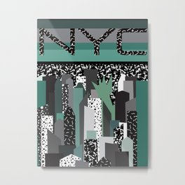 Postmodern 80's NYC Travel Poster Metal Print