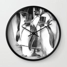 A Gathering of Gentlemen Wall Clock