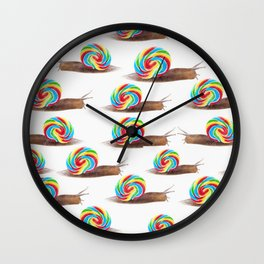 Candied Snails Wall Clock