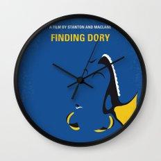 No717 My Finding Dory minimal movie poster Wall Clock