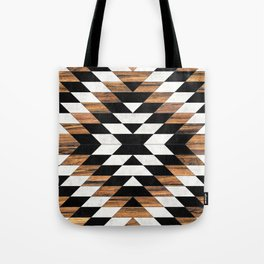 Urban Tribal Pattern No.13 - Aztec - Concrete and Wood Tote Bag