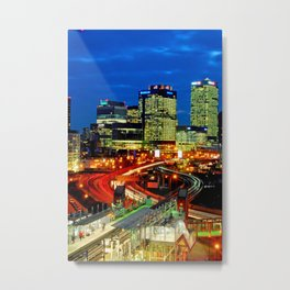 East India Dock Station Canary Wharf London Docklands Metal Print