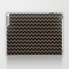 Taupe Geometric Art Deco Chevron Pattern Laptop & iPad Skin
