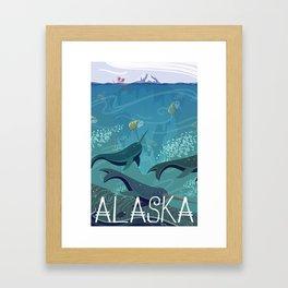 Alaska State Poster Framed Art Print