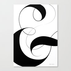 Ampersand - White Canvas Print