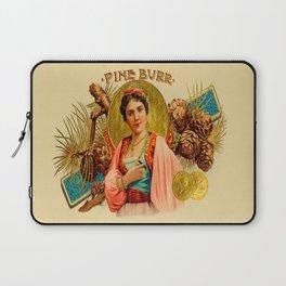 Vintage Cigar Box Art - Pine Burr Laptop Sleeve