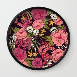 Jungle Pattern 001 Wall Clock