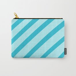 Minty Stripes Carry-All Pouch