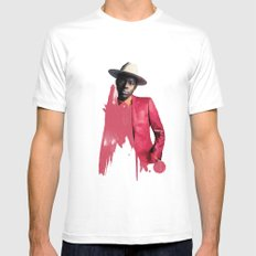 Theophilus London Mens Fitted Tee White MEDIUM