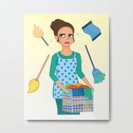 House Chores Metal Print