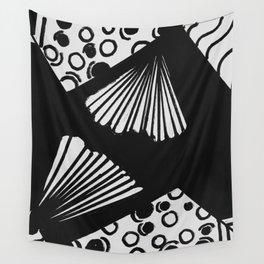 wavy circle pattern design Wall Tapestry