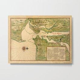 Map Of New York 1639 Metal Print