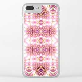 Pink Energy Glow #3 Clear iPhone Case