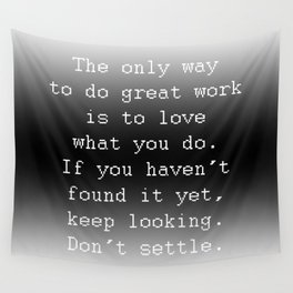 Do Great Work Wall Tapestry