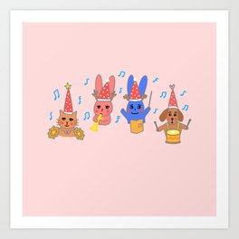 Sing along a Happy Song! Art Print